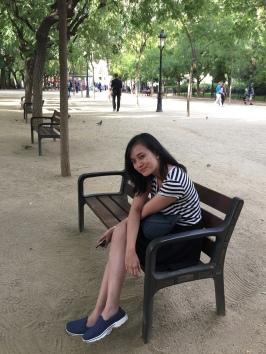 Santai sore di taman